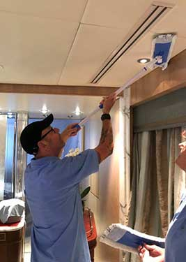 Cleaning Yacht Overheads